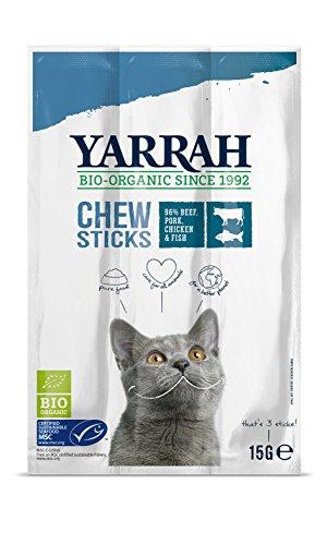 Yarrah Kausticks 15g Bio Katzensnack, 25er Pack (25 x 0.015 kg)