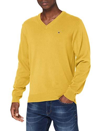GANT Herren Superfine Lambswool V-Neck Pullover, IVY Gold, S