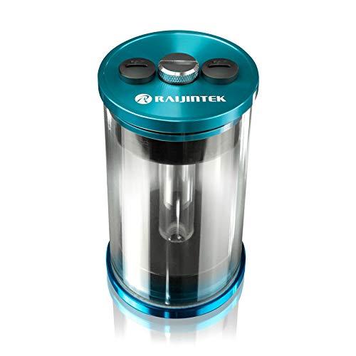 Raijintek RAI-R10 Ausgleichsbehälter für Wasserkühlung PC, Transparenten Reservoir PC PMMA-Zylinder 100mm x 64mm (L x D), Blau