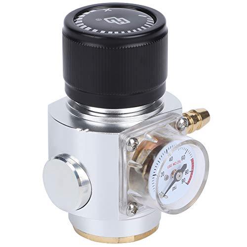 Ruspela CO2 Mini regulador de gas 0-90PSI manómetro con kit de montaje de línea de gas de 5/16 pulgadas
