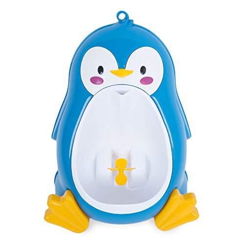 Uniquk Baby Boy Potty Toilet Training PingüIno NiiOs Stand Orinal Vertical NiiOs Orinar Bebé NiiO PequeeO Montado en la Pared Azul