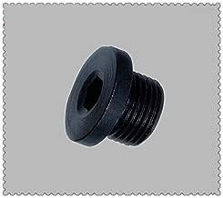Metric Fitting M27X2 M27 Male Thread Allen Socket Flange Plug Black Steel