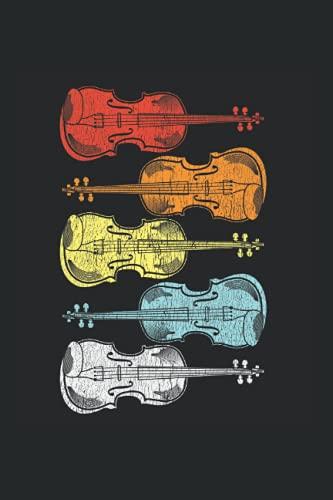 Notizbuch: Geige Streichinstrument Spieler Geschenk für Musiker Notizbuch DIN A5 120 Seiten für Notizen Zeichnungen Formeln   Organizer Schreibheft Planer Tagebuch