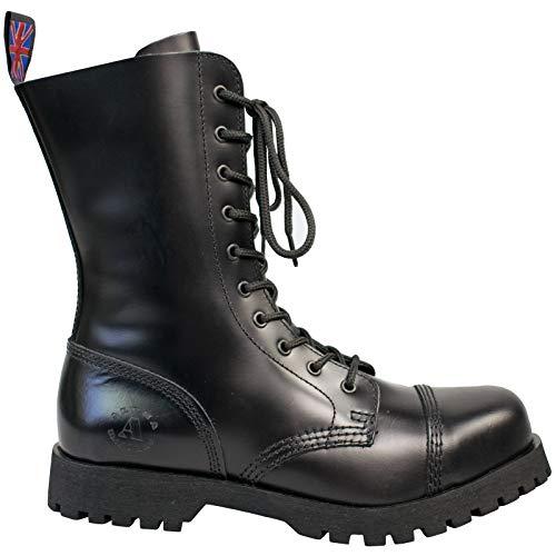 Alpha Rangers 10-Loch Boot Ranger Festival Army Gothic Leder Springerstiefel Schwarz 5011 UK 6 / EU 40