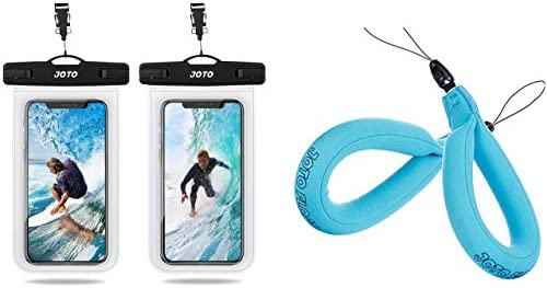 JOTO 2 Pack Clear Universal Waterproof Pouch up to 6 9 Bundle with 2 Pack Blue Floating Strap product image