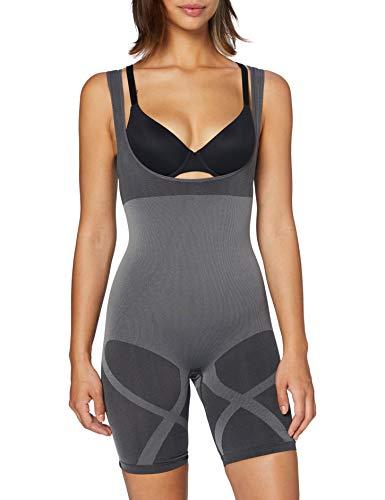MAGIC BODYFASHION Damen Seamless Bodysuit Shapewear Ganzkörper-Body, Grey, XL