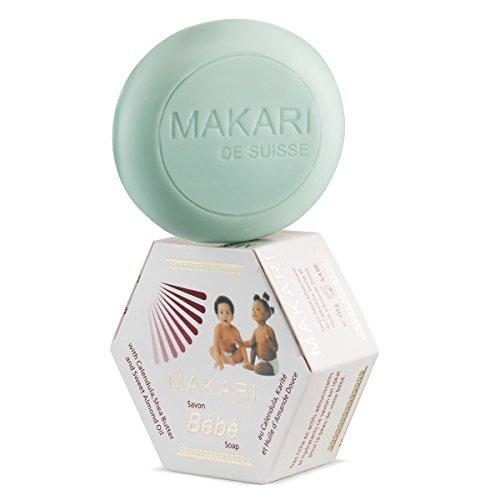 Savon Makari pour Bébé 5.4oz - Barre de bain apaisant, nettoyant pour enfants avec un beurre de karité hydratant et doux, ingrédients botaniques non irritants - hydrate, adoucit, guérit et protège