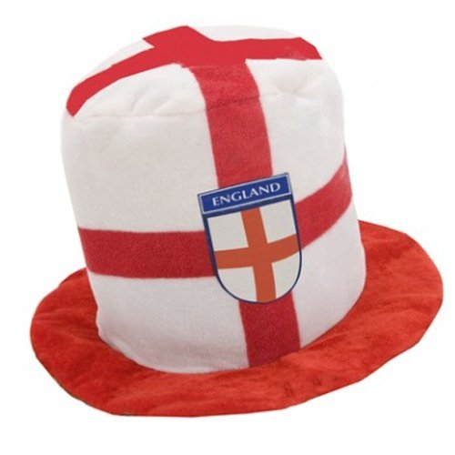 ENGLAND TOP HAT CARNIVAL ST GEORGES DAY FOOTBALL RUGBY FANCY DRESS GIFT SOCCER
