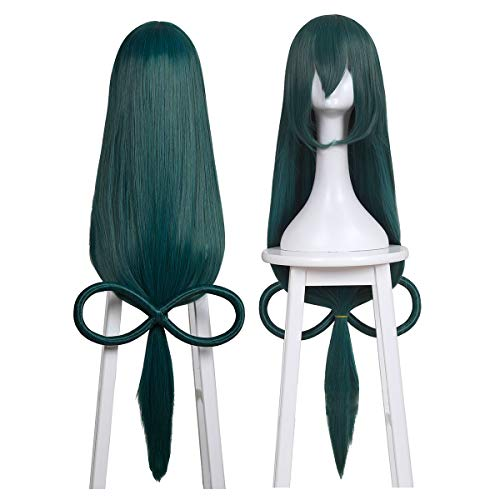 ColorGround Long Dark Green Easy Styling Cosplay Wig for Cons and Halloween Cosplay
