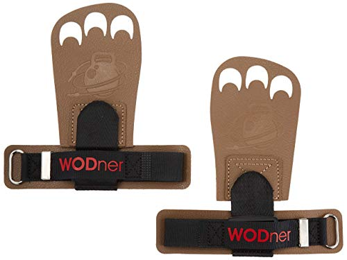 WODner Handsavers Hand Cross Training Leather Gloves Gymnastics Grips WOD Pull ups Work Out (Original)