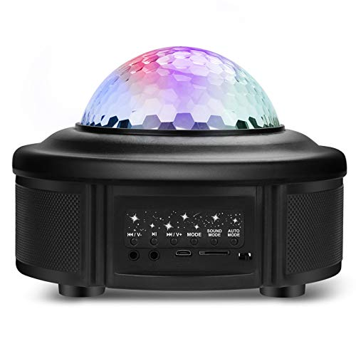 Starry Sky Light Projector, Night Light Ambiance with Bluetooth Speaker, Voice Control Remote Control. Dual-Motor, Dual Speakers. Night Light for Kids. Parties Home Show Bar Club Birthday KTV DJ Pub