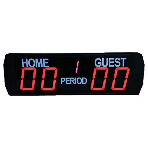 CMOIR Puntuación de Puntuación de Baloncesto Deportivo Marcadores de Juego de Bádminton Capacitación Marcador LED Tablero electrónico para Béisbol de Voleibol de Fútbol.