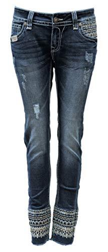 Blue Monkey Jeans, Damen, Luna, Cropped Länge, BM-3988, Luxery (W26/L28)