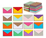 140 Mini Envelopes with Blank Note Cards, Assorted Colors 4'x 2.7' Small Envelopes for Thank You Cards, Business Cards, Gift Cards
