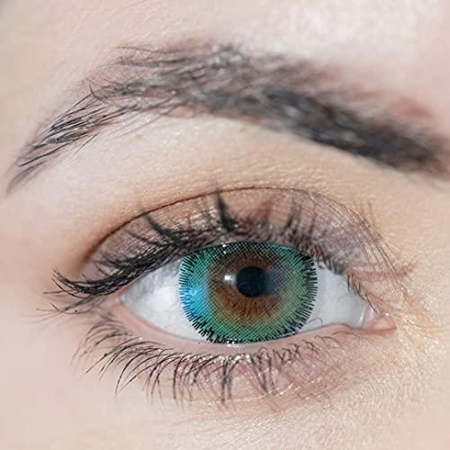 ADORE lentillas DIARIAS de color verde - 2 lentillas por caja - efecto luminoso y natural - muy cómodas