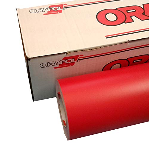 Red 12' x 10 Ft Roll of Oracal 631 Vinyl for Craft Cutters and Vinyl Sign Cutters