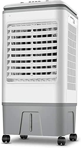 ZJDM Ventiladores de Pedestal Ventilador de Aire Acondicionado 3 en 1, Ventilador de enfriamiento del humidificador Cool 3 Speed 80W, Tanque de 17L con temporización de 18 Horas, Ruedas, Contro
