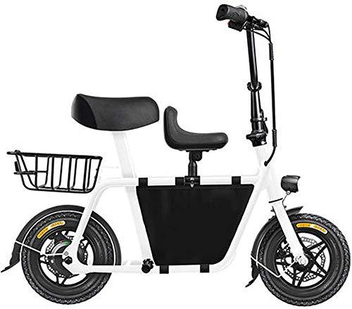 GJJSZ Bicicleta eléctrica Plegable,Marco de aleación de Aluminio Antideslizante a Prueba de explosiones Diseño fácil de Plegar y Transportar Velocidad máxima 20 KM/H Mini Coche eléctrico para Adultos