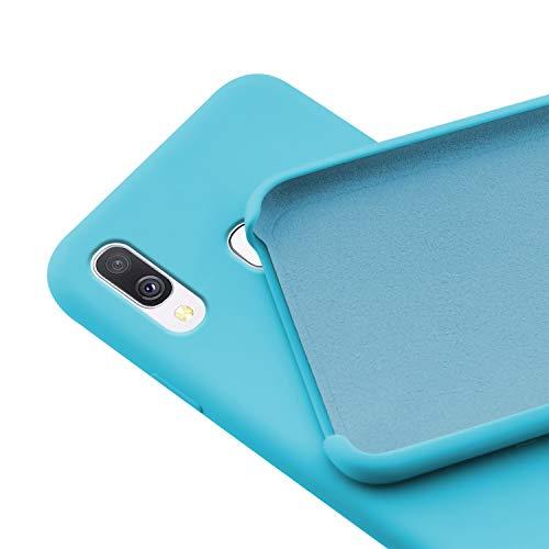 N NEWTOP Custodia Cover Compatibile per Samsung Galaxy A40, Ori Case Guscio TPU Silicone Semi Rigido Colori Microfibra Interna Morbida (Azzurra)