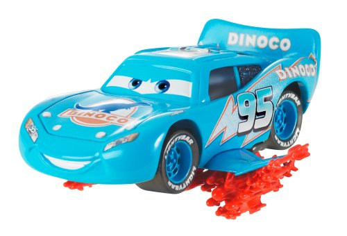 Cars - Série Deluxe - Méga Véhicule - Lightning Storm Lightning McQueen - Véhicule Miniature - Voiture