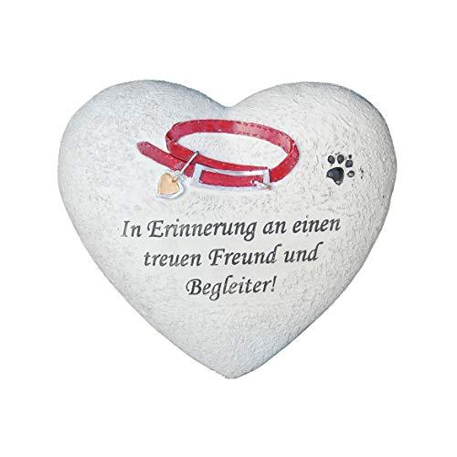 SHACAMO Tiergrab-Schmuck Herz In Erinnerung an einen treuen Freund