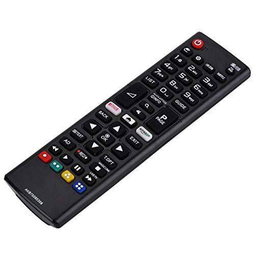 Control Remoto de Larga Distancia de diseño ergonómico Control Remoto para LG LCD TVBlackAKB75095308