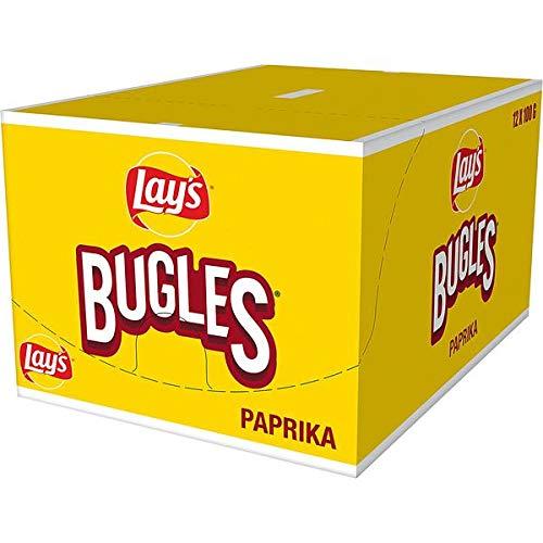 12 Beutel a 100g Bugles 3 D Paprika Snack Orginal Mais Snack