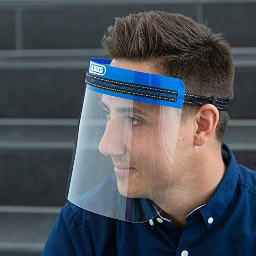 ABUS Face Guard Gesichtsschutz mit breitem Visier aus Acrylglas - EN 166 zertifiziert - abwaschbar - geeignet für Brillenträger - 3er Set - 62849