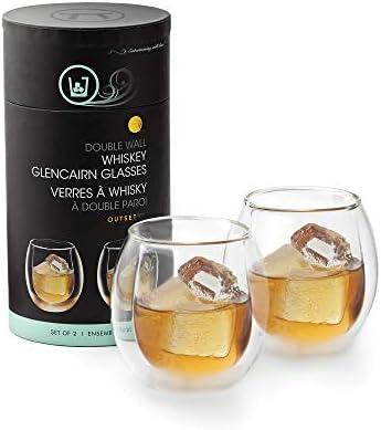 Outset Double Wall Whiskey Glasses Borosilicate Glassware product image