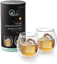 Outset Double Wall Whiskey Glasses, Borosilicate Glassware