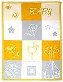 Arus, Babydecke/Erstlingsdecke/Kuscheldecke/Krabbeldecke/Spieldecke, Butter Scotch, Baumwollmischgewebe, 75x100 cm, 450 gr/cm²