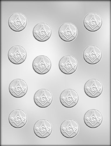 CK Products 1-1/8-Inch Masonic Mint Chocolate Mold