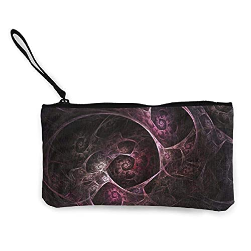 Abstrakte dunkelviolette Kunstleinen-Geldbörse für Reisen, Make-up, Stifteetui mit Griff, Bargeld, Reißverschluss, tragbare Kulturtasche