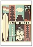Imán para nevera, diseño de símbolos de Indonesia
