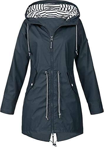 Jacket Chubasqueros Mujer Chaqueta con Capucha Chaqueta Impermeable, a Prueba de...