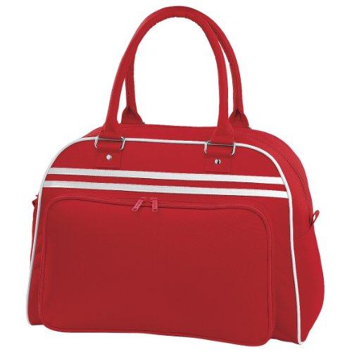 BagBase Retro Bowling Tasche (23 Liter) (2 Stück/Packung) (Einheitsgröße) (Rot/Weiß)