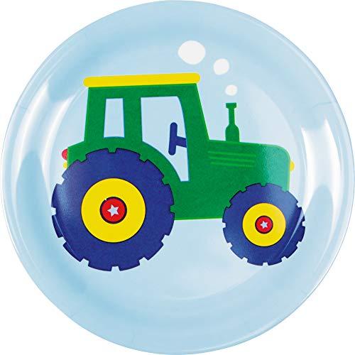 DIE SPIEGELBURG Melamin-Teller Traktor