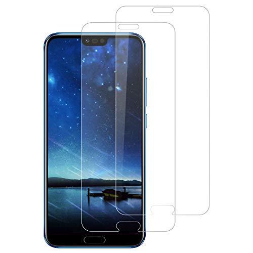 DOSNTO Pellicola Protettiva in Vetro Temperato per Huawei Honor 10, Protezione Schermo Trasparente Ultra Resistente, [2 Pezzi] Anti-Olio, Graffi e Impronte digitali Pellicola Protettiva