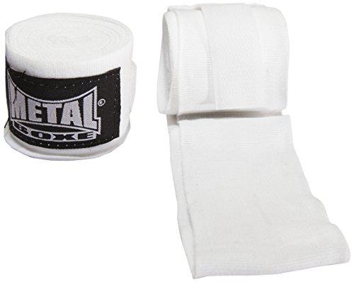 Metal Boxe - Fascia da allenamento, 4 m, colore: bianco