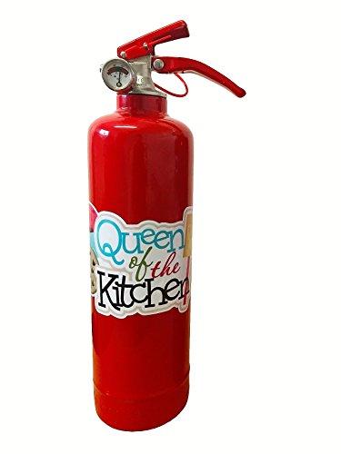 Individuell Designer Queen of kitchen 1kg ABC Pulver Feuerlöscher. Vollständig CE ideal für Haushalte Küchen Arbeitsplatz Restaurants Cafe.