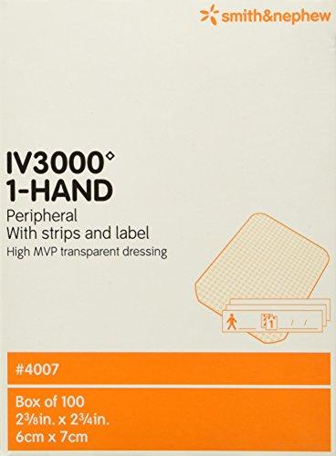 Smith & Nephew IV 3000 1-Hand Transparent Dressing, 100 Count