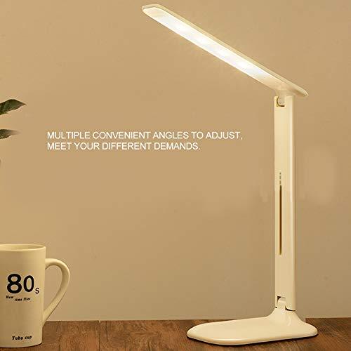 Lámpara de oficina, lámpara de escritorio LED USB LED ajustada en ángulos sin rayos azules con 5 niveles de brillo para oficina para el hogar(Dual color temperature plug-in)