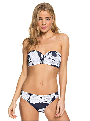 Roxy Printed Beach Classics Dames Bikini Set Bandeau Bright White Paradise L