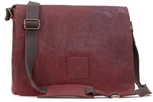 Borsa Messenger per portatile Ashwood in pelle - Pedro - Marrone