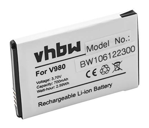 vhbw Batería Compatible con Motorola Flipout MB511, MB 511 móvil, Smartphone, teléfono (700mAh, 3.7V, Li-Ion)