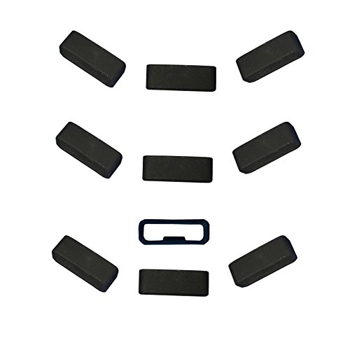 Replacement Band Keeper Fastener Ring for Garmin Vivosport Band Keeper (Pack of 10) Silicone Non-Slip Security Loop for Garmin vívosport Smart Activity Tracker (Style1-10pcs)
