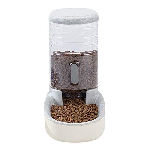 QUEENBACK Alimentador automático para mascotas, fuente de alimentación para perros y gatos, gris, food feeder