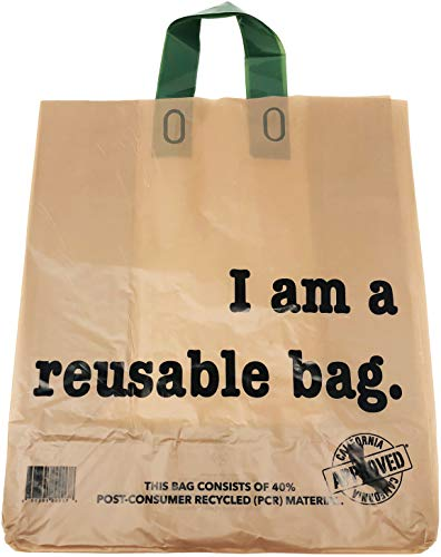 """Reli. Shopping Bags, Reusable (250 Count Bulk; 2.25 mil Thick) Kraft Shopping Bags for Restaurant, Take Out, Retail, Grocery - Recyclable Shopping Bags (12""""L x 6.75""""W x 14""""H) (Brown)"""