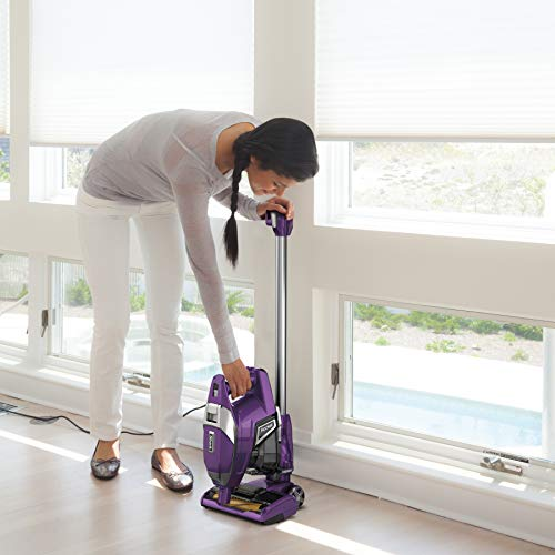 Shark ZS351 Rocket Corded Ultra-Light Vacuum with Zero-M Anti-Hair Wrap Technology, XL Dust Cup, Hand Vacuum Mode, & Swivel Steering, Plum Purple