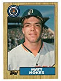 Matt Nokes Topps 1987 Traded Collectors Edition Tiffany Rookie Baseball Card-Detroit Tigers. rookie card picture